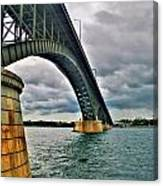 009 Stormy Skies Peace Bridge Series Canvas Print