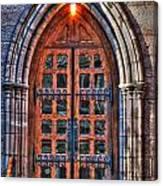 01 Church Doors Canvas Print