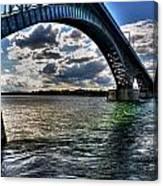 013 Peace Bridge Series II Beautiful Skies Canvas Print