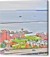 013 Series Of Buffalo Ny Via Birds Eye Erie Basin Marina Canvas Print