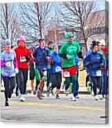 028 Shamrock Run Series Canvas Print