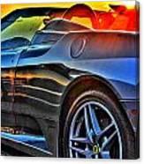 03 Ferrari Sunset Canvas Print