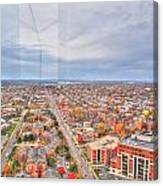 031 Series Of Buffalo Ny Via Birds Eye West Side Canvas Print
