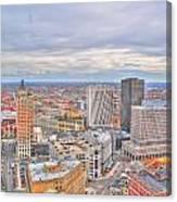 037 Series Of Buffalo Ny Via Birds Eye Downtown Buffalo Canvas Print