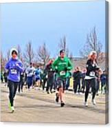 041 Shamrock Run Series Canvas Print