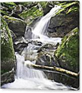 0804-0035 Cascade Above Triple Falls Canvas Print