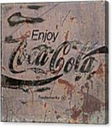 Coca Cola Sign Grungy Retro Style Canvas Print