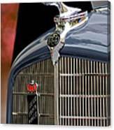 1935 Reo Speedwagon Pickup Hood Ornament Canvas Print