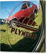 1947 Plymouth Coupe Hubcap Canvas Print