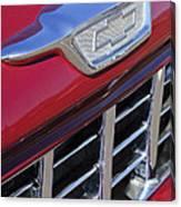 1955 Chevrolet Pickup Truck Grille Emblem Canvas Print