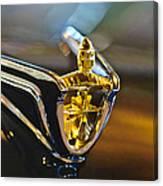 1956 Lincoln Premiere Convertible Hood Ornament Canvas Print