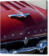 1956 Plymouth Hood Ornament Canvas Print