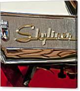 1957 Ford Skyliner Retractable Hardtop Emblem Canvas Print