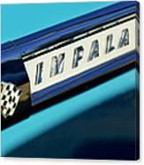 1959 Chevrolet Impala Emblem Canvas Print