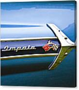1960 Chevrolet Impala Emblem Canvas Print