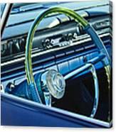 1961 Pontiac Catalina Steering Wheel Canvas Print