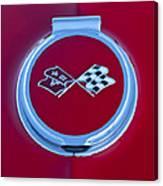 1967 Chevrolet Corvette Emblem Canvas Print