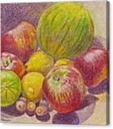 1 2 3 4 5 Canvas Print