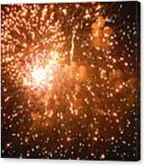 4th Of July Fireworks In Dc  Canvas Print
