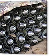 81mm Mortar Rounds Ready Stacked Ready Canvas Print