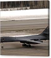 A B-1b Lancer Performs A Touch And Go Canvas Print