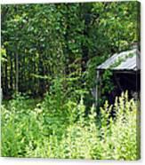 A Broken Down Farm Building Canvas Print