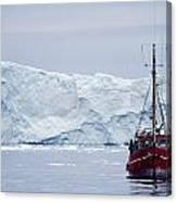 A Midnight Cruise Around The Ilulissat Canvas Print