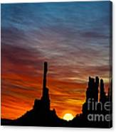A New Day At The Totem Poles Canvas Print