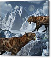 A Pair Of Sabre-toothed Tigers Canvas Print