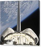 A Partial View Of Space Shuttle Canvas Print
