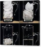 A Pitcher Of Ice Melts Over 4 Hours Canvas Print