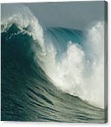 A Powerful Wave, Or Jaws, Off The North Canvas Print