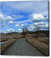 A Road View In Wildlife Refuge Canvas Print