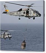 A Sh-60j Seahawk Transfers Cargo Canvas Print