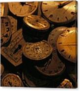 A Still Life Of Old Watch Faces Canvas Print