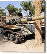 A T-72 Tank Destroyed By Nato Forces Canvas Print