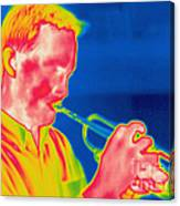 A Thermogram Of A Musician Playing Canvas Print