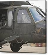 A Uh-60 Black Hawk Taxis Canvas Print