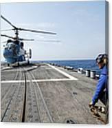 A Ukrainian Navy Ka-27 Helix Helicopter Canvas Print