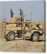 A U.s. Army Cougar Mrap Vehicle Canvas Print