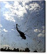 A U.s. Navy Hh-60 Seahawk Stirs Canvas Print