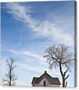 Abandoned House In Field Canvas Print