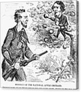 Abraham Lincoln Cartoon Canvas Print