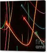 Abstract Motion Lights Canvas Print