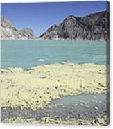 Acidic Crater Lake, Kawah Ijen Volcano Canvas Print
