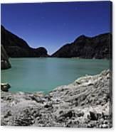 Acidic Crater Lake On Kawah Ijen Canvas Print