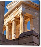 Acropolis Temple Canvas Print