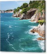 Adriatic Sea Coastline Canvas Print