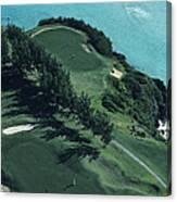 Aerial Of A Golf Course In Bermuda Canvas Print