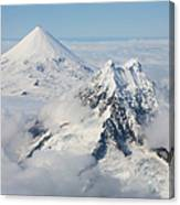 Aerial View Of Shishaldin Volcano Canvas Print